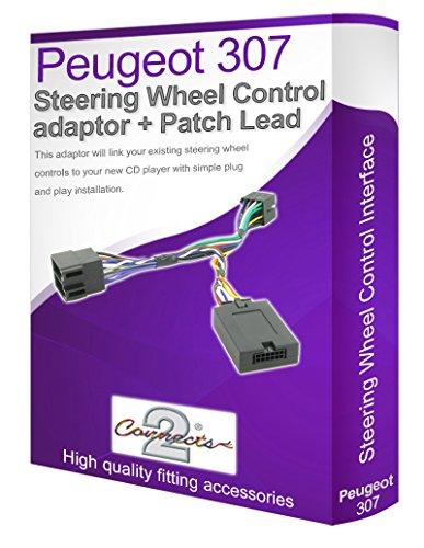Connects2 - Cable adaptador para reproductor de audio de Peugeot 307 (conecta los controles del volante)