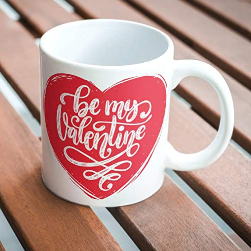 "360Edutech, Valentine Gift for Boyfriend Girlfriend Girls Husband Wife Cup Mug, 11OZ / 325ML, Accessories Merchandise Birthday Gifts, ""A"" Grade Ceramic Mug, Microwave & Dishwasher Safe, BMVMV4"