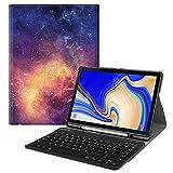 Fintie Tastatur Hülle für Samsung Galaxy Tab S4 T830 / T835 (10.5 Zoll) 2018 Tablet-PC - Superdünn Schutzhülle mit magnetisch Abnehmbarer drahtloser Deutscher Bluetooth Tastatur, Die Galaxie