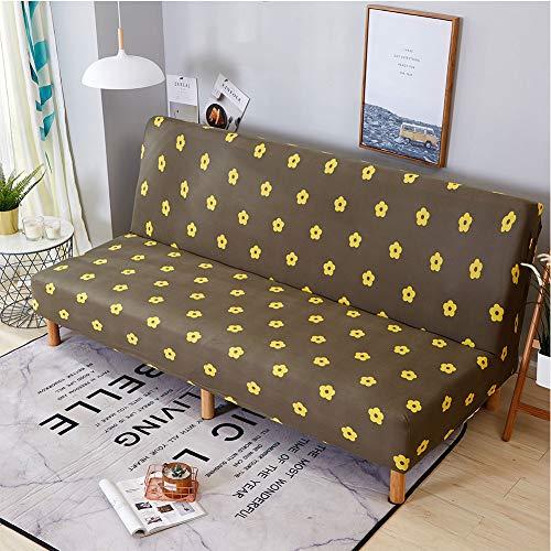 Anoauit Stretch-slaapbank in Scandinavische stijl Coversofa-beschermhoezen, mouwloos, elastische futon-beschermhoes, antislip, slaapbankdekbed met geometrisch patroon, J,3 Seater