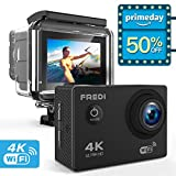 Action Kamera Wifi Sports Cam 4K Camera 20MP Ultra Full HD Unterwasserkamera Helmkamera Wasserdicht...