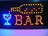 870012 Cartel luminoso de LED Bar de colores Luz Actividad Tienda