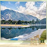 BEIVIVI Nature Tapestry Wall Tapestry Wall Hanging View of A Sunrise at Parque Del Este with El Avila Venezuela Wall Art Decoration for Bedroom Living Room Dorm,Window Curtain Picnic Mat,60x50in