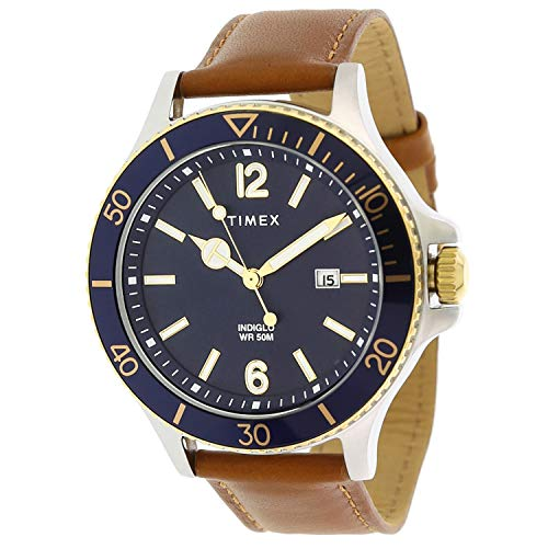 Timex Men's Harborside TW2R64500 Blue Leather Analog Quartz Fashion Watch
