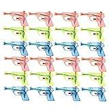 Toyvian 24 Piezas Transparentes, pequeñas Pistolas de Agua, niños, chorros, Juguetes acuáticos, Grandes Juguetes de Verano (Color Aleatorio)