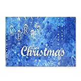 DRTWE Soft Velvet Elemento 3D impresión Alfombra Alegre patrón Carta de Navidad Antideslizante niños juegan Alfombra Moderna Sala de Estar Cama Piso Pad casa decoración,40 * 60cm