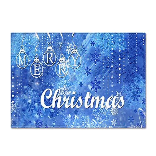 DRTWE Soft Velvet Elemento 3D impresión Alfombra Alegre patrón Carta de Navidad Antideslizante niños juegan Alfombra Moderna Sala de Estar Cama Piso Pad casa decoración,120 * 160cm