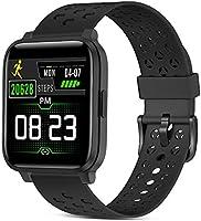 Smartwatch, fitnesstracker horloges met hartslagmeters, IP68 waterdichte activiteitstracker met touchscreen, voor dames...