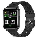 ZKCREATION Smartwatch,1.3 Zoll Voll Touchscreen Fitness Armbanduhr mit Pulsmesser,Sportuhr...