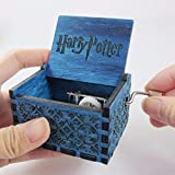 PATPAT® Engraved Wooden Harry Potter Music Box Blue