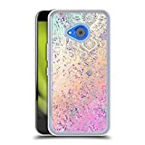 Head Case Designs Officially Licensed Micklyn Le Feuvre Rainbow Lace Silver Clear Hybrid Liquid Glitter Compatible with HTC U11 Life
