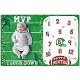 Baby Monatliche Meilenstein-Decke, Fußball-Sportdecken für Kleinkinder, Fotografie-Hintergrund, Requisite, weiches Plüsch-Fleece