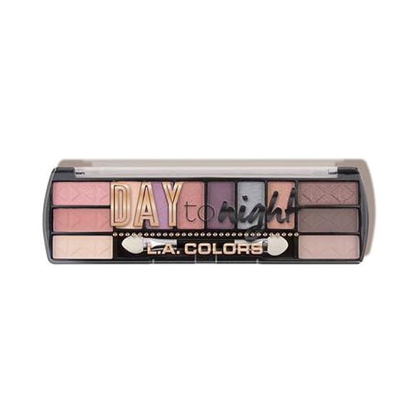 いらいらする好戦的な手を差し伸べる(3 Pack) LA COLORS Day To Night 12 Color Eyeshadow - Dawn (並行輸入品)