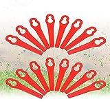 Rasentrimmer Messer,Ersatzmesser Set 100 pcs Kunststoff Ersatzmesser Rasentrimmer-Zubehör Kunststoffmesser für Garten,für Akku-Rasentrimmer Kunststoffmesser