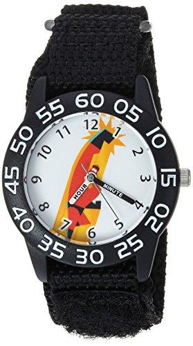 Disney Jungen Armbanduhr Incredibles 61 cm Quarz Kunststoff und Nylon Casualuhr, Farbe: Schwarz (Modell: WDS000568)