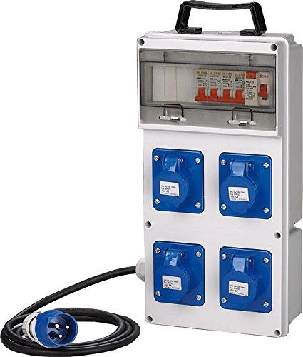 ASC - Cuadro eléctrico con 4 tomas de 230 V, IP44
