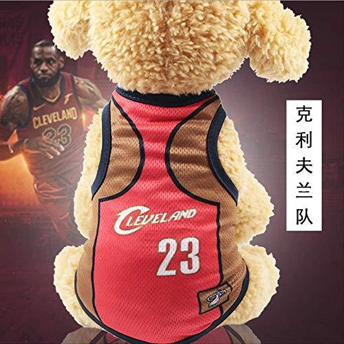 UD-strap NBA Jersey Dog Camicia Coppa del Mondo Cane Vestiti per Cani di Piccola Taglia Estate Chihuahua Tshirt Cucciolo Gilet Pet Clothes XS Sec