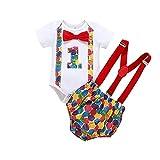 FYMNSI - Pelele de manga corta para bebé, niño, primer cumpleaños, diseño de...