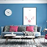 ACCEY Vliestapete Moderne Minimalistische Uni Uni Tapete Rosa Gelb Blau Dunkelgrün Schlafzimmer Wohnzimmer-Babyblau_Nur Hintergrundbild