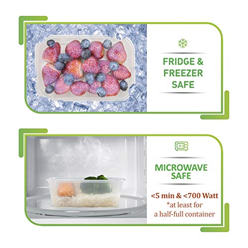 Food Storage Containers with Lids - Food Containers Meal Prep Plastic...