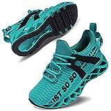 Vivay Unisex-Kinder Turnschuhe Sportschuhe Hallenschuhe Leicht Atmungsaktiv Laufschuhe Sneaker für Jungen Mädchen,2blauer See,34 EU