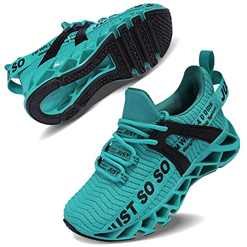 Vivay Kinder Schuhe Sportschuhe Ultraleicht Atmungsaktiv Turnschuhe Low-Top Sneakers Laufen Schuhe Laufschuhe für Mädchen Jungen,2blauer See,33 EU
