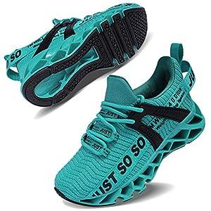 COKAFIL Boys & Girls Running Shoes Slip On Sneakers for Little Kids/Big Kids, Lake Blue, 2 Y/33 EU