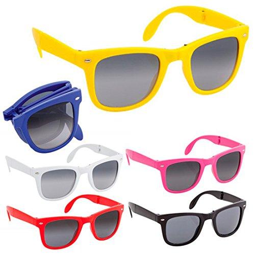 DISOK Lote de 30 Gafas de Sol PLEGABLES Protección UV400 - Gafas de Sol Baratas Online, Fiestas, Promociones, Despedidas Soltero, Promociones Unisex, Hombres, Mujeres