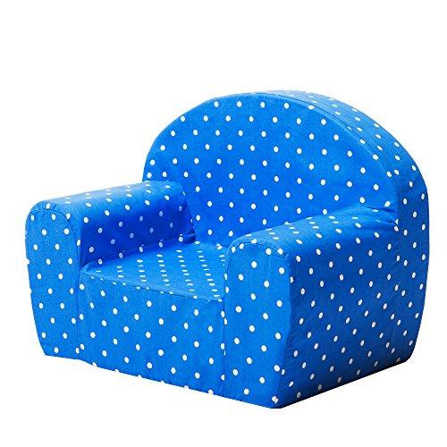 Gepetto Mini fauteuil en mousse souple pour enfant Housse amovible Bleu