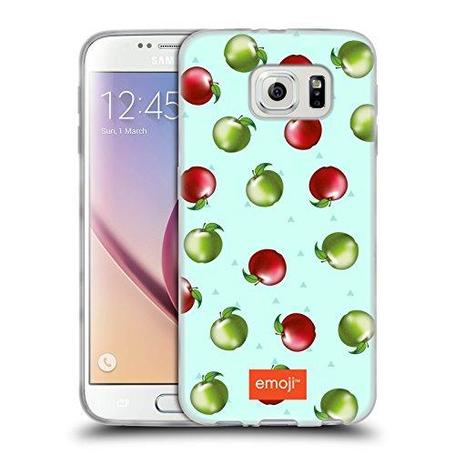 Head Case Designs Oficial Emoji Manzanas Frutas Carcasa de Gel de Silicona Compatible con Samsung Galaxy S6