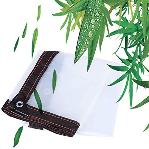 XYXH Lona Impermeable Exterior Transparente con Ojal, Lona De Protección, Anti Congelación Película, Resistente Al Agua Y A Los Rayos UV, para Plantas Al Aire Libre Invernadero, 120g/m²