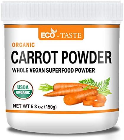 Organic Carrot Powder 5 3oz 150g Natural Food Coloring Pure Carrot Powder No Additives No Fillers product image