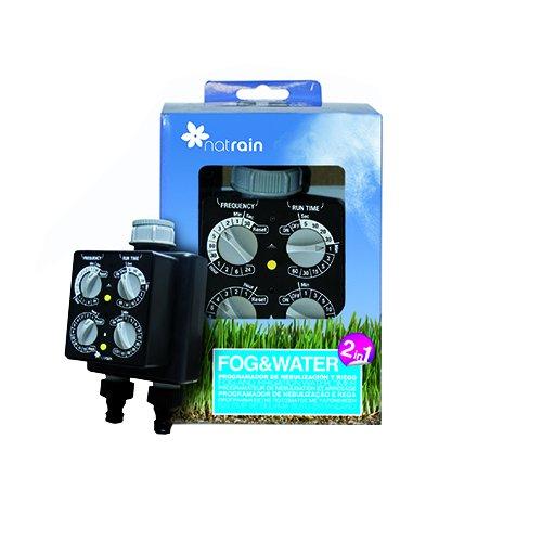 Natrain Programador Nebulización y Riego, Negro, 12x11x22 cm, Fog&Water