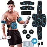 Geternal EMS Bauchmuskeltrainer, EMS Elektrische Muskelstimulation USB-wiederaufladbarer tragbarer Fettverbrennung EMS Trainingsgerät Bauch- / Arm- / Bein-Fitness Trainings Gang