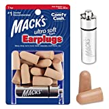 Mack's Ultra Soft Foam Earplugs, 7 Pair + Case – 32 dB Highest NRR, Comfortable Ear Plugs for Sleeping, Snoring, Travel, Concerts, Studying and Noise