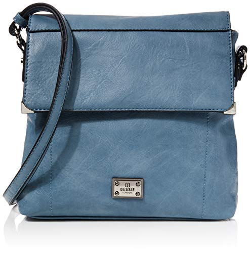 Bessie London Damen Crossbody-Umhängetasche, Blau, One Size