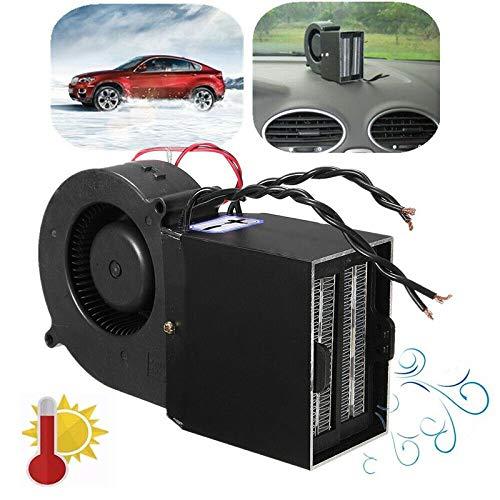 cff Ventilador Coche Mechero Calefactor 12V Ventilador para Coche Calefactor Descongelador De Ventana, 500W 300W Fuerte Calentador