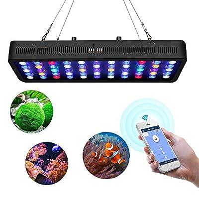 Allonger WiFi 165w Marine LED Aquarium Lumière Minuterie Dimmable Spectre Complet LED Éclairage Acuarios pour Récif de Corail LED Fish Tank