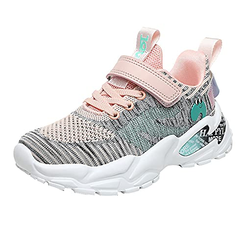 BAOFUBA Sports Shoes Unisex Running Shoes for Boys and Girls Boys Trainers with Velcro Fasteners Children's Trekking Shoes Ultra Lightweight Breathable Trainers