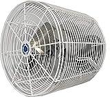 "Schaefer VK12 Versa-Kool 12"" Deep Guard Greenhouse Circulation Fan, Made in USA, Horizontal Airflow, 1/10 HP, 1470CFM, L-shape Mount Included, White"