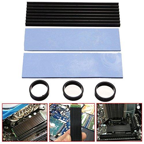 Tutoy Aluminio De Enfriamiento Disipador Térmico Cojín Negro para Sm961 960Pro M. 2 Ngff Nvme 2280