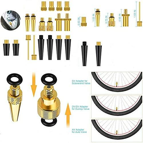 21 piezas neumático de bicicleta tubo inflable aguja adaptador de manguera de aire Kits conector bomba válvula de baloncesto herramientas de reparación de bicicletas