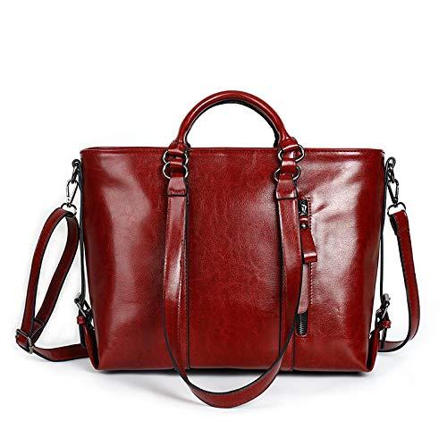 LINJIANG Moda De Moda Solo Bolso De Hombro Bolso De Mensajero De PU Bolso De Mano Mujer Vino Rojo