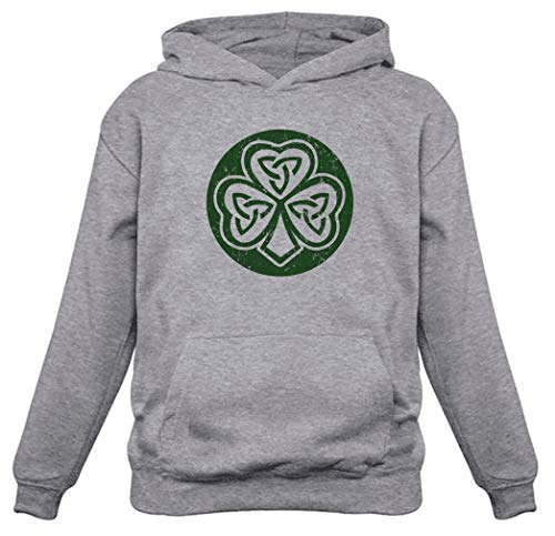Celtic Clover Irish Shamrock Gift for St. Patrick's Day Cool Hoodie Medium Gray