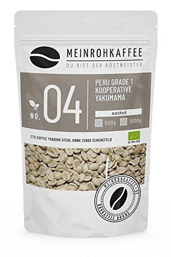 Rohkaffee - Peru Grade 1 Cooperative Yakumama (grüne Kaffeebohnen) - mild, sehr ausgewogen - 500g