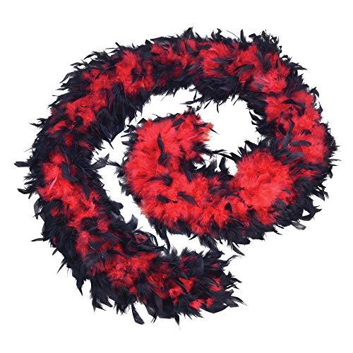 Bristol Novelty - Boa de plumas de precio económico para disfraz (Tamaño Único) (Rojo/Negro)