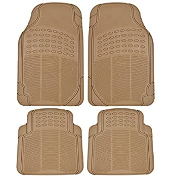 BDK Universal Fit 4-Piece Heavy Duty All-Weather Protection Floor Mat