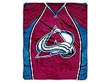 NHL Colorado Avalanche 'Jersey' Raschel Throw Blanket, 50' x 60'
