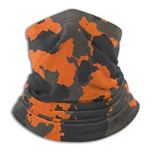 JONINOT Cubierta para Llantas Bufanda de pasamontañas Abstracta de Camuflaje Naranja, Polaina Multifuncional para el Cuello, Bufanda para Polvo 111D, Resistente al Viento y al Sol, UV