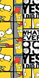 The Simpsons Bart Whatever Emotions Strandbadetuch